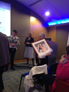 Margaret receives her picture health seminar 2014