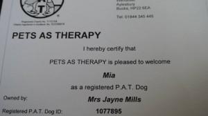 Mia Mills identity tag